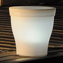 JFE002 MACETA LUMINOSA LED BLANCA ø28 cm