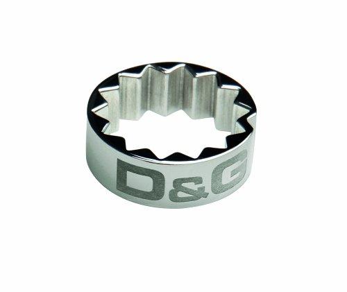 Dolce & Gabbana DJ0835 - Anillo de hombre de acero inoxidable (talla: 23)