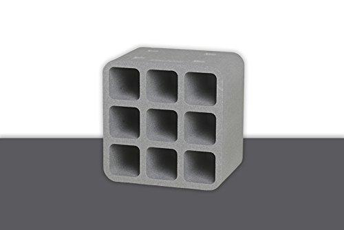 Climapor Flaschenbox Cube, grau - für 9 Flaschen max. Ø 9 cm, 1 Stück