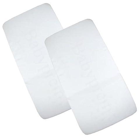 BabyPrem Pack of 2 Fitted Crib / Pram Sheets 100% Cotton - Plain White