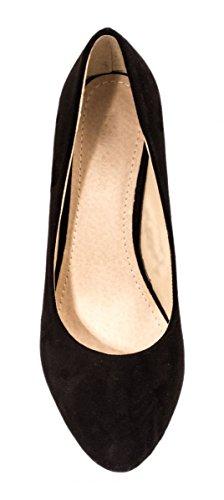 Elara , chaussures compensées femme Noir - Noir