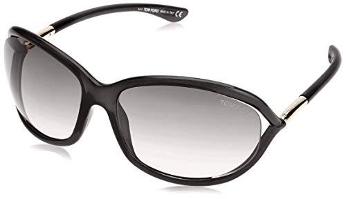 Tom Ford Damen FT0008 01D 61 Sonnenbrille, Schwarz (Nero Lucido/Fumo Polar),