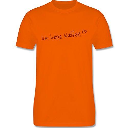 Küche - Ich liebe Kaffee - Herren Premium T-Shirt Orange