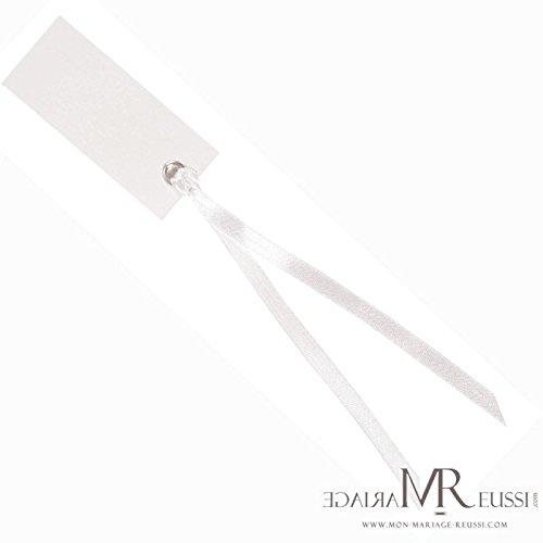 Marque-places Ruban - Blanc x 12 - Taille Unique