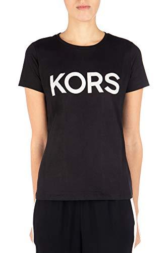 T-shirt MICHAEL KORS Donna MICHAEL KORS cod.MH85M2Y97J Nero/argento SIZE:M