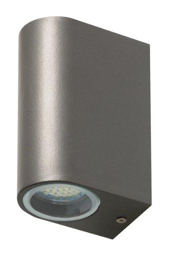 Smartwares 5000.331 Bastia Wandleuchte – Zweifache LED – Aluminium