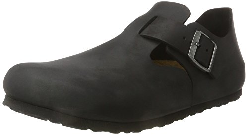 Birkenstock London Leder (Birkenstock Shoes London Leder, Unisex-Erwachsene Oxford Schnürhalbschuhe, Schwarz (Black), 40 EU / 7 UK)