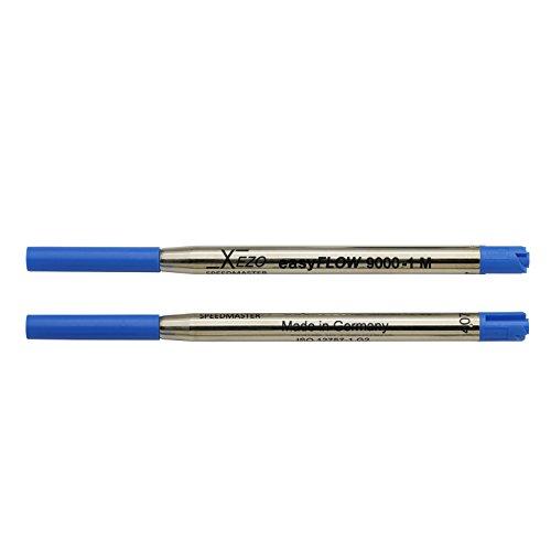 Xezo Speedmaster penne a sfera media ricariche gel, confezione da 2, blu Ink (Blueâ 9000-1Â Ballpointâ ricariche)