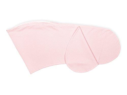Housse de coussin d'allaitement Force Kids petites feuilles rose sur blanc