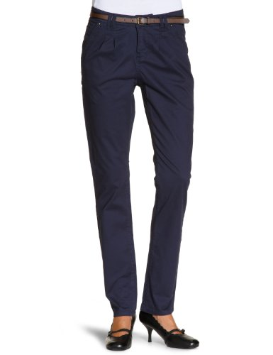 Vero Moda - Pantaloni chino, donna, Blu (Blau (Dark Navy)), 34 EU