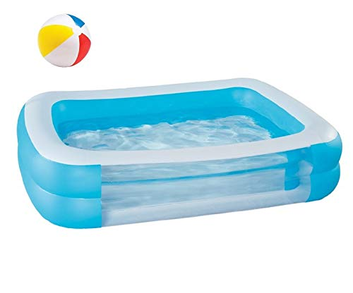 Kinderpool Planschbecken Schwimmbad Family Pool Planschbecken Babypool Baby Pool Familienpool Schwimmingpool Kinderplanschbecken Rechteckig Badespaß - ca. 200 x 150 x 50 cm