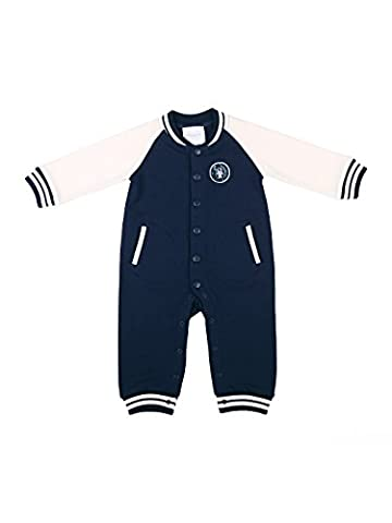 Oceankids Baby Jungen Marineblau Overall Säugling Spieler Kleidung Baseball Baby Strampler 9-12 Monate