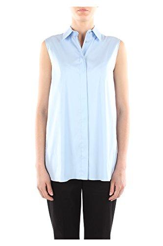 24X536CIELOPOPELINE Prada Chemises Femme Coton Céleste Céleste