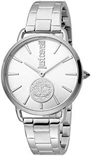 Just Cavalli Logo Women's Silver Dial Stainless Steel Analog Watch - JC1L117M