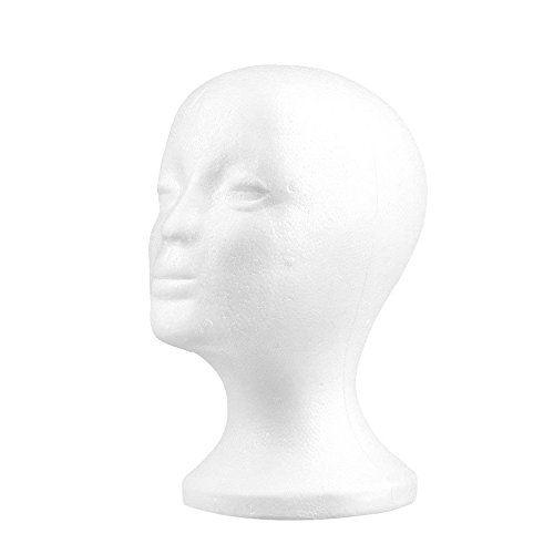 Polystyrol Weiblich Anzeige Mannequin Kopf Dummy Perücke Stand Anzeige Männchen Schaum Deckel Verkauf Fenster Sonnenbrille Brille Haarteil Modell Styropor POLYSTYROL Geschäft Modell