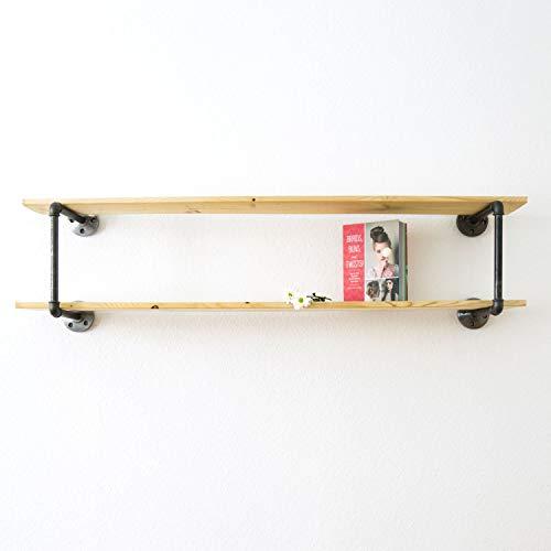 Various Regal im Industrial Design - Bücherregal, Wandregal, Küchenregal, Badregal - für Wohnzimmer, Küche & Bad - schwarz, stabil aus Metall