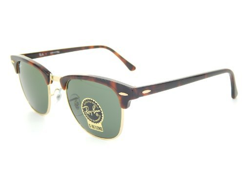 New Ray Ban Clubmaster RB3016 W0366 Tortoise/Arista/G-15 XLT 49mm Sunglasses