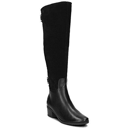 7140 Caprice Leder Stiefel schwarz Black Komb