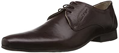 Redtape Men's Brown Leather Formals Shoes - 6 UK