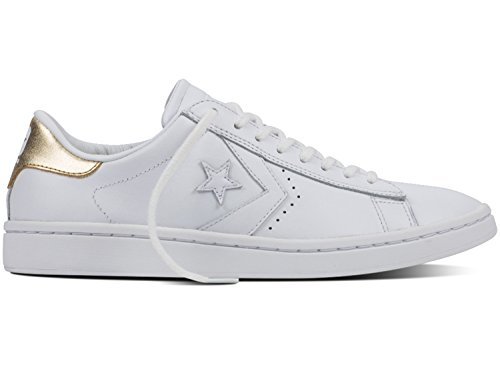 Converse Pl Lp Ox, Sneakers Femme Blanc (White/light Gold/white)