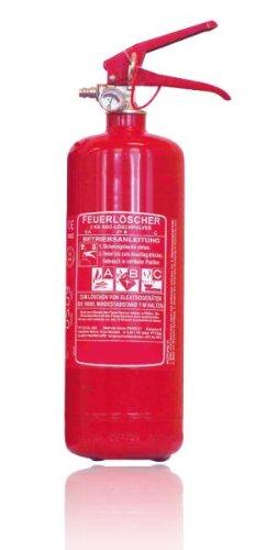 Preisvergleich Produktbild Feuerlöscher nach DIN EN3 Dauerdrucklöscher mit Manometer Inhalt: 2 KG Farbe rot