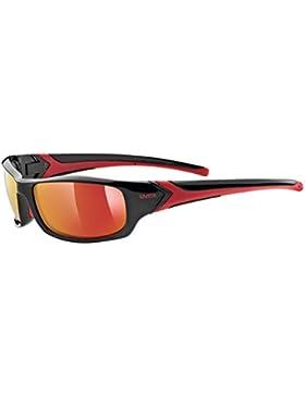 Uvex Sportstyle 211 Gafas de Ciclismo, Unisex adulto, Negro / Rojo, Única