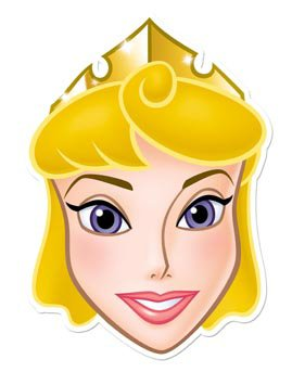 Disney Princess Star Cutouts Bedruckte Gesichtsmaske von Sleeping Beauty
