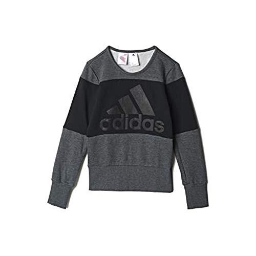 adidas YG W ST Sweat Sweatshirt für Mädchen, YG W ST Sweat, Grau/Schwarz, 140