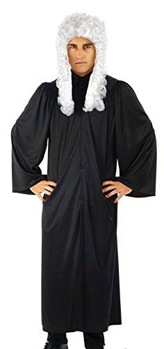 Judges Robe Mens Womens Fancy Dress Justice Uniform High Court Adults Costume One (Kostüm Justice Lady)