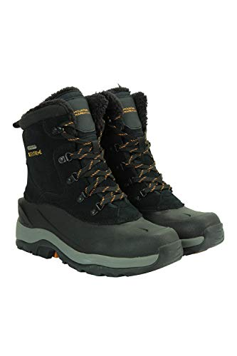 Mountain Warehouse Off-Piste Mens Snowboots - Quick Drying, Snowproof, Thermal Lining, Rubber Heel & Toe Reinforcement - Thermal Tested - for Winter