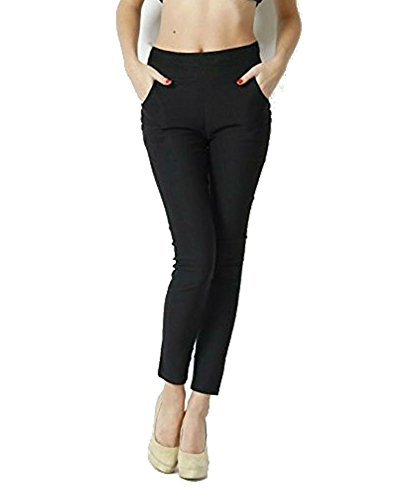 Thinline Black lycra jeggings for women (34)