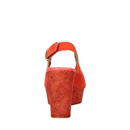 KEYS sandali donna corallo / rosa camoscio Corallo