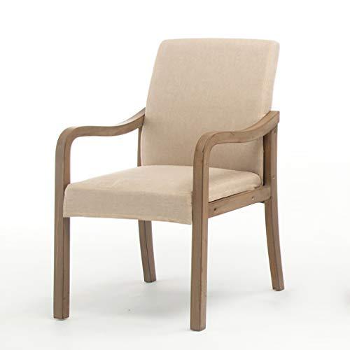 J&X Massivholz Fußhocker Chair-Home Fashion Schreibtisch Stuhl zurück Stuhl Nordic einfach...