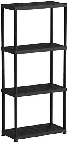 Praktisches Regal für Haushalt, Büro, Keller, Werkstatt oder Garage - 4 Böden mit je 25kg - in Schwarz!