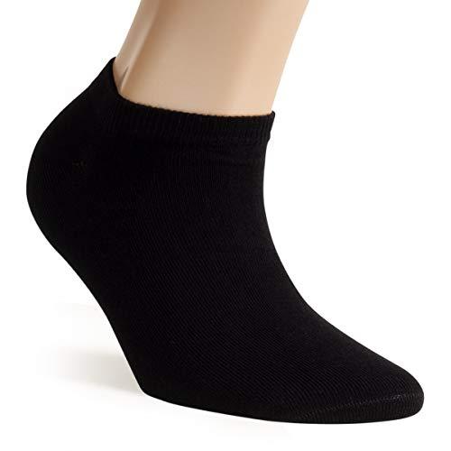 ALL ABOUT SOCKS 5er Pack Sneaker Socken schwarz 39-42 Damen & Herren | 39 kurze Socken 40 kurze Sneakersocken 41 Schwarze Füßlinge 42