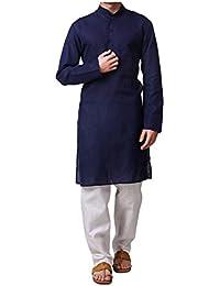 MAG Men's Cotton Mix Kurta Pajama Set