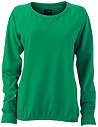 James & Nicholson Women's JN991 Basic Sweatshirt simply-green M