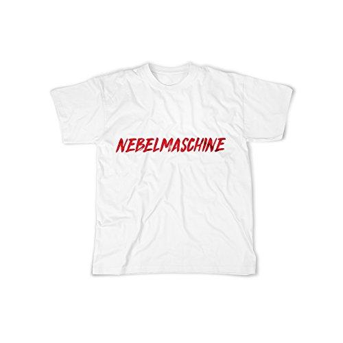 licaso Herren T-Shirt mit NEBELMASCHINE Aufdruck in White Gr. S Design Top Shirt Herren Basic 100% Baumwolle Kurzarm