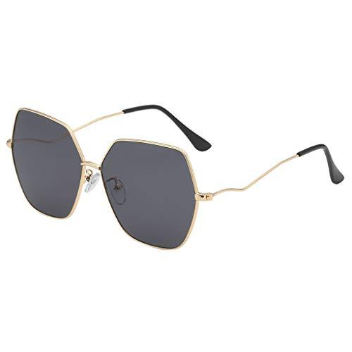 Yolmook Fashion Herren Damen Sonnenbrille, unregelmäßige Form, Vintage-Retro-Stil