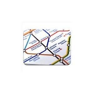 Close Up mapa del metro de Leicester Square, de Londres Premium calidad gruesa de goma alfombrilla de ratón con tacto suave,