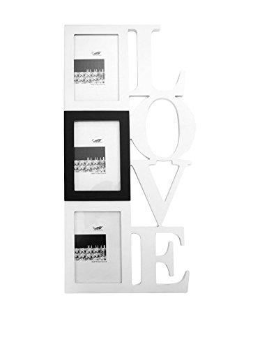SuperStudio LO+DEMODA Portafotos Colgante, diseño Love, para 3 Fotos, 1.1000000000000001x26x54 cm