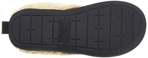 Dearfoams Microsuede Clog With Whipstitch And Memory Foam, Chaussons femme Brown (Espresso 00205)
