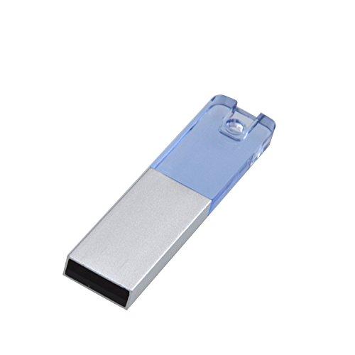 Uflatek USB-Stick 64 GB, Acryl Speicherstick 2.0 Klein Memory Stick Tragbar USB-Flash-Laufwerk Blau U Disk Neuheit Pen Drive für Computer Laptop und PC