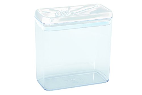 Novastyl 4036179Aloe Topf stapelbar Kunststoff Transparent Deckel weiß 2,7l