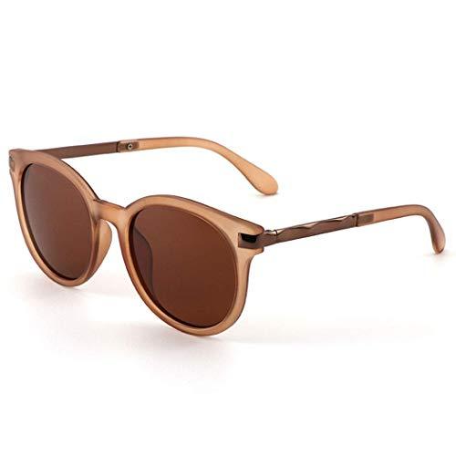 Yuany Sonnenbrille Retro Harajuku Wind Brille Weiblich Braun Koreanische Version Der Runden Fassung Langes Gesicht Sonnenbrille Netz Rot Mit Dem Gleichen Polarisator