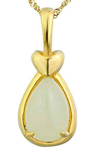 Bishiling Schmuck Kette Anhänger Damen Silber 925 Süßwasser Perle Herz Tropfen Gold (Halskette Gold Medallion Kostüm)