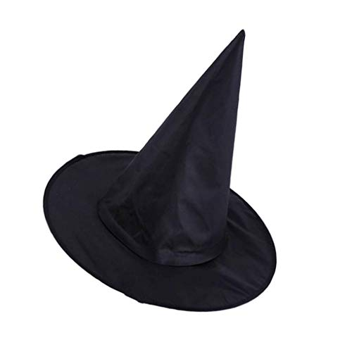 Lorsoul accessori costume panno oxford nero adulto unisex strega pinnacle cappelli cap halloween party