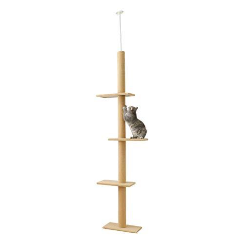 Daoxiang Tongtian Katze Klettergerüst, große Katze Kletterbaum, Kratzbaum Katzenturm, große Katze Möbel,Beige -