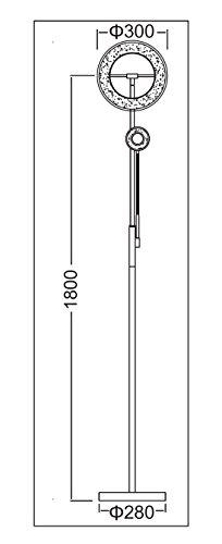 Trango Design LED Stehleuchte Nickel Matt inkl. stufenlos TOUCH-DIMMER 3000 K warm-weiß TG1515