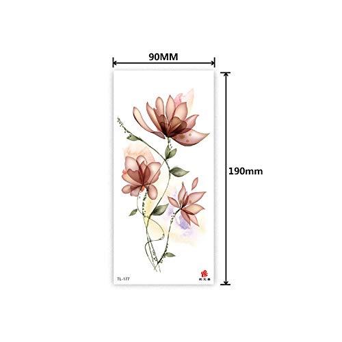 ue TL Serie Tier Blume Skizze Geschmack Aufkleber Grün Wasserdicht Tattoo Aufkleber TL-177 10 Stücke- ()